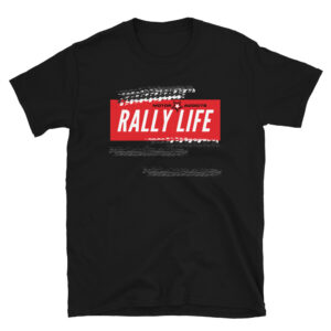 Motor Addicts Car and Bike Enthusiasts Rally Life T-Shirt with tire marks